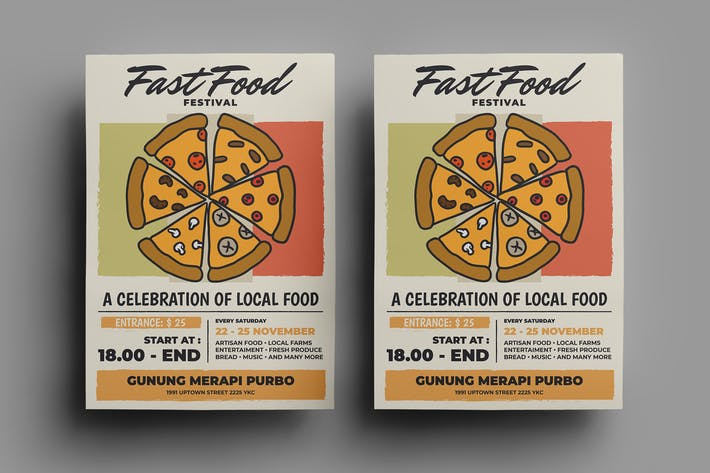 Thumbnail for Fast Food Flyer Design.16