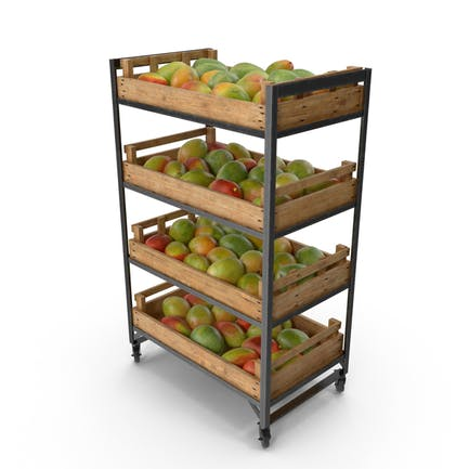 Retail Shelf With Mangos