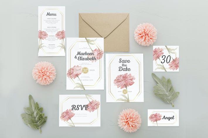 Thumbnail for Watercolor Feminine Flower - Wedding Invitation