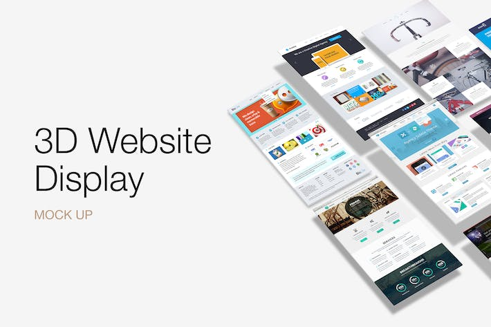 Thumbnail for 3D Website Display Mockup