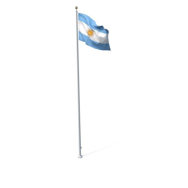 Flagge auf Pole Argentinien