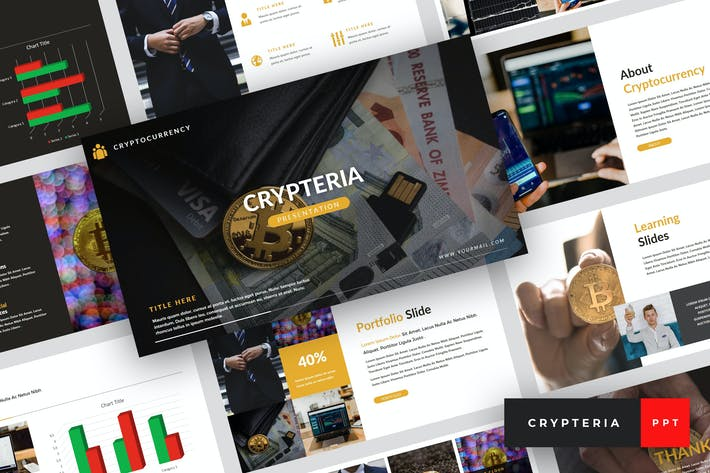 Thumbnail for Crypteria - Criptocurrency PowerPoint Template