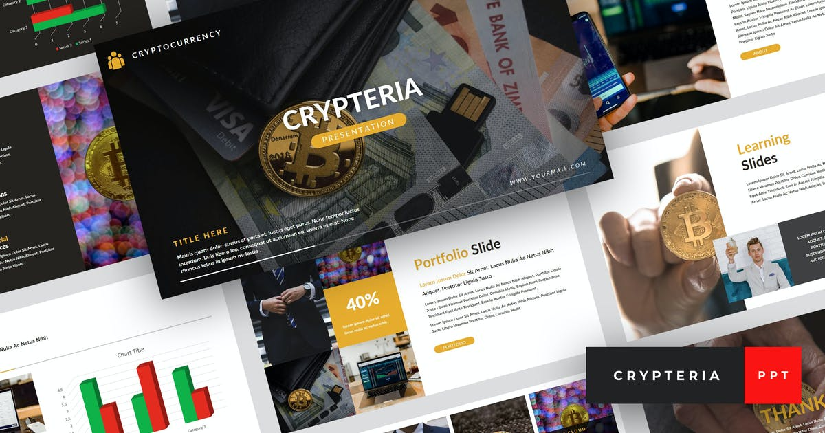 Download Crypteria - Criptocurrency PowerPoint Template by StringLabs