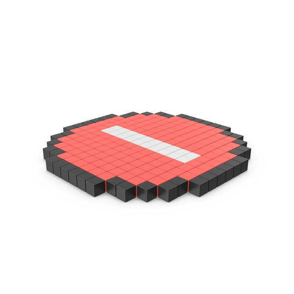 Thumbnail for Pixelated Stop Sign Icon