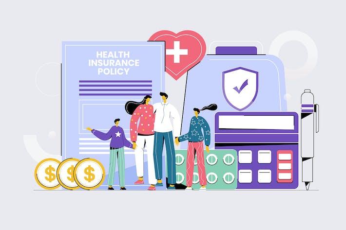 Thumbnail for Seguro de Salud - Ilustración Vector