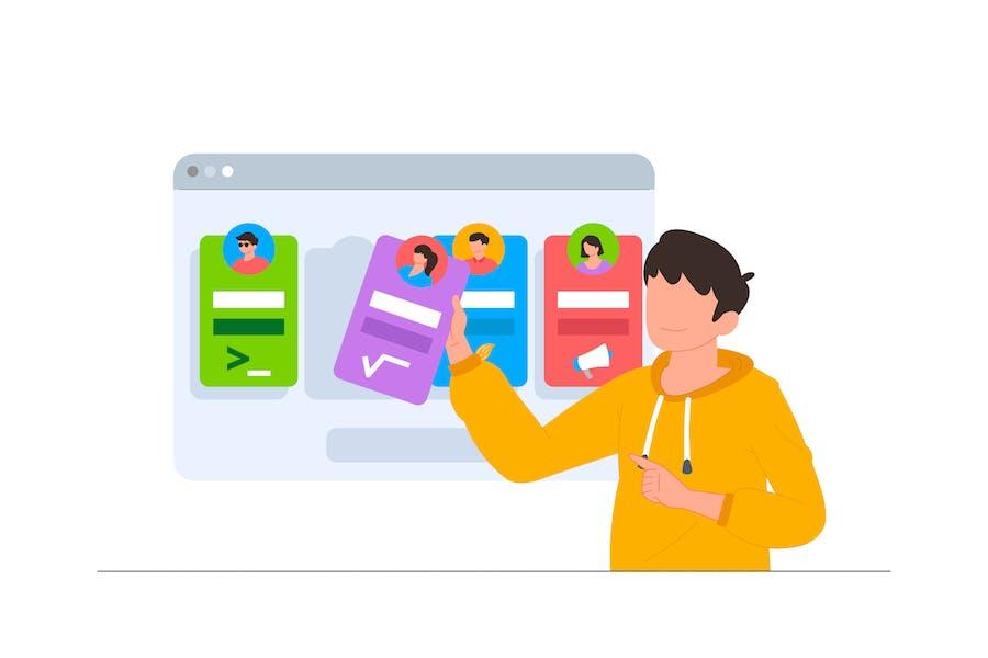 Choose Teacher - Online Course Illustration