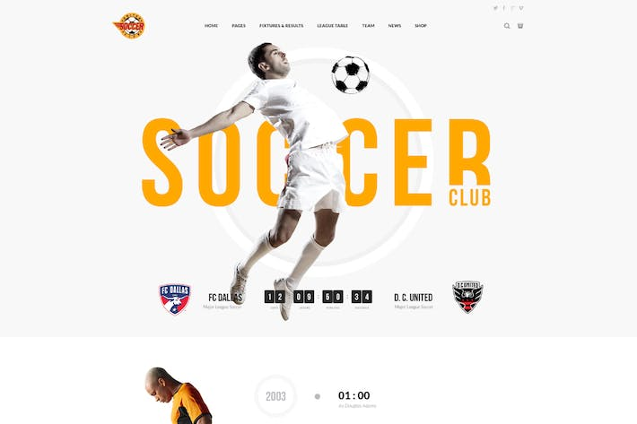 Soccer Club - Football Team WordPress Theme