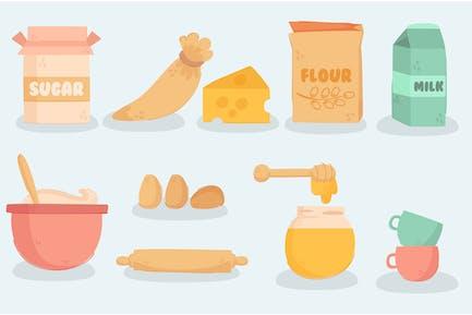 Back- und Kochausrüstung