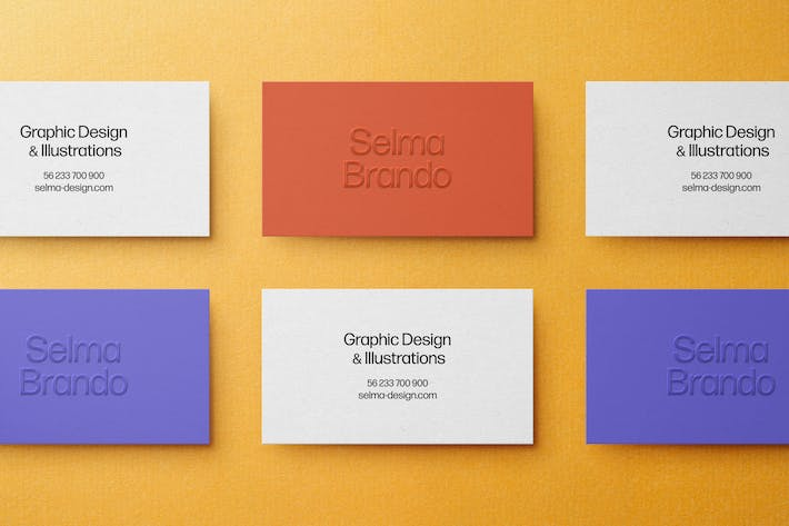 Thumbnail for Grid Business Card Mockup