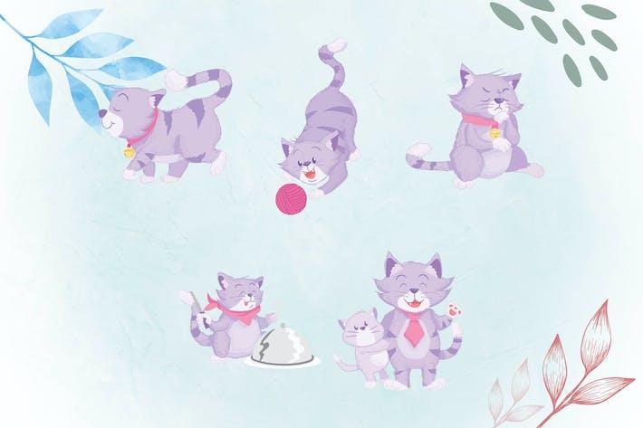 Thumbnail for skurrilen Tier-Illustrationen Katze