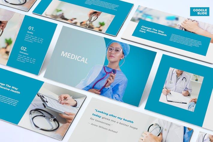 Thumbnail for Медицинский - Шаблон слайдов Google