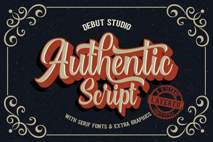 Authentic Layered Fonts