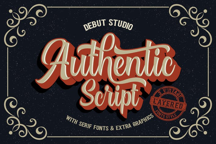 Thumbnail for Authentic Layered Fonts