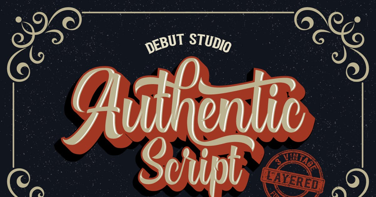 Download Authentic Layered Fonts by DebutStudio
