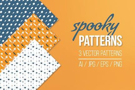 Spooky Seamless Patterns