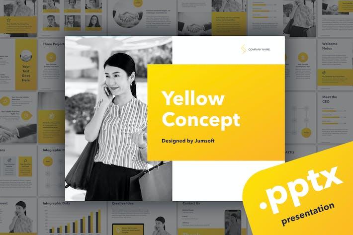 Thumbnail for Gelbes Konzept PowerPoint Vorlage