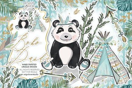 Boho Panda design