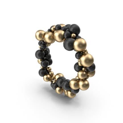 Gold and Black Ballon Circle