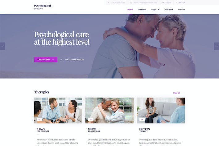 Cover Image For Psychology - Psychological Practice WP Theme