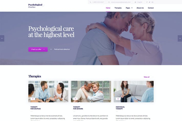 Thumbnail for Psychology - Psychological Practice WP Theme