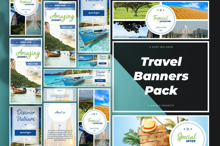 Thumbnail for Travel Banner Pack