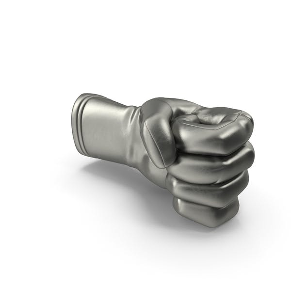 Glove Metallic Hold Pose