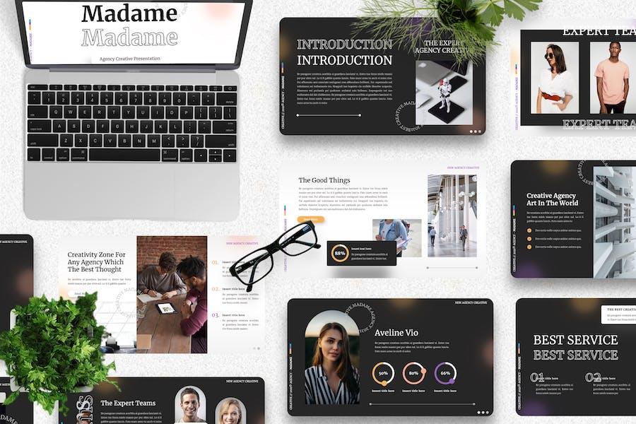Madame - Agency Creative Googleslide Template