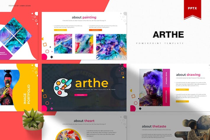 Thumbnail for Arthe | Powerpoint Template
