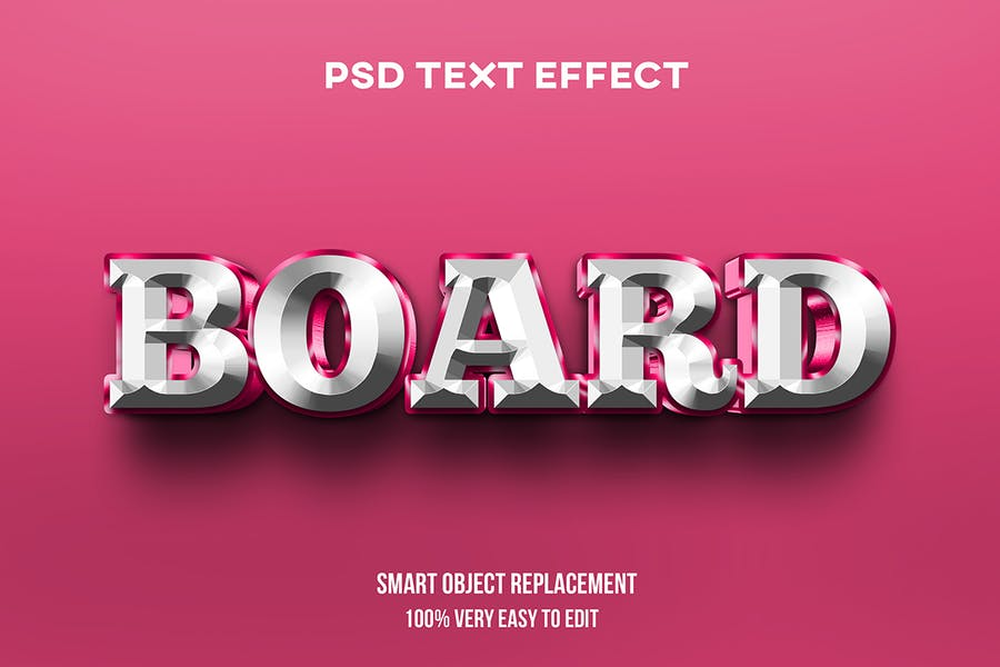 3d glossy bold text effect