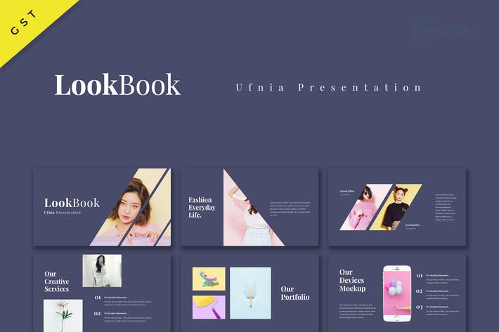 Thumbnail for Ufnia - Lookbook Google Slides Template