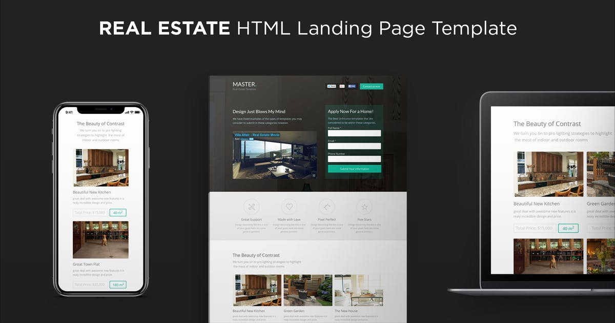 Download MASTER - Real Estate HTML Landing Page by PixFort