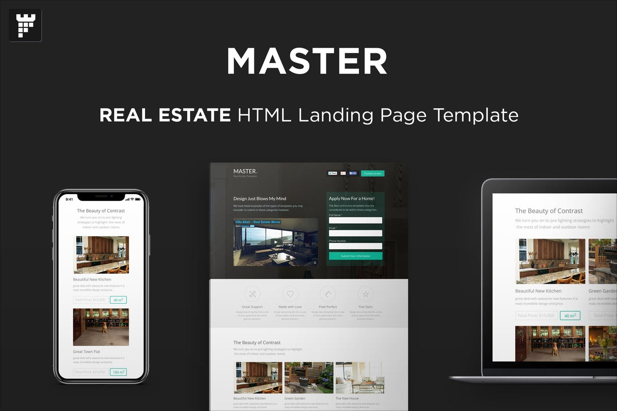 MASTER - Real Estate HTML Landing Page by PixFort on Envato Elements
