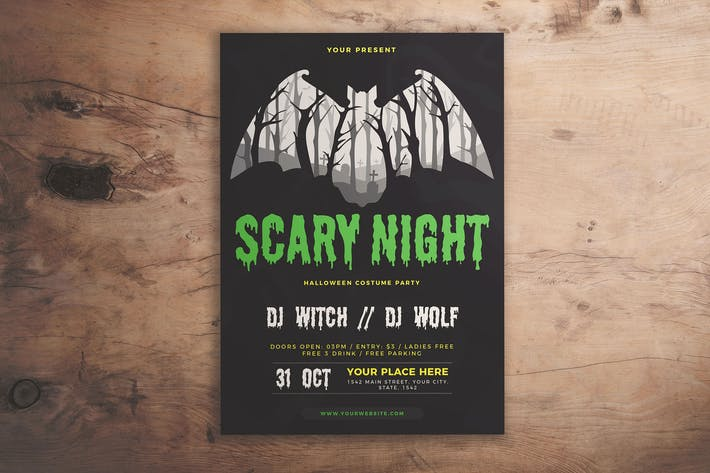 Thumbnail for Halloween Scary Night Flyer