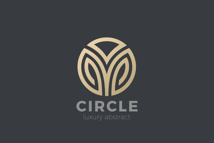 Logo Circle abstract Luxury Fashion Corporate