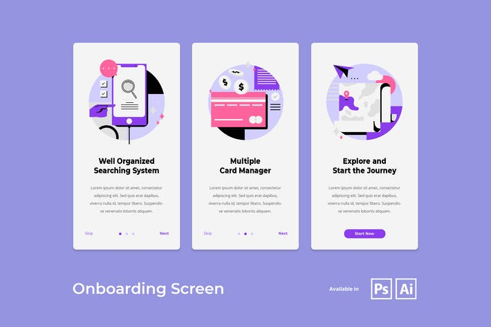 Thumbnail for Onboarding Screen Mobile App