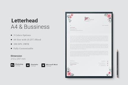 Letterhead for Microsoft Word Docx