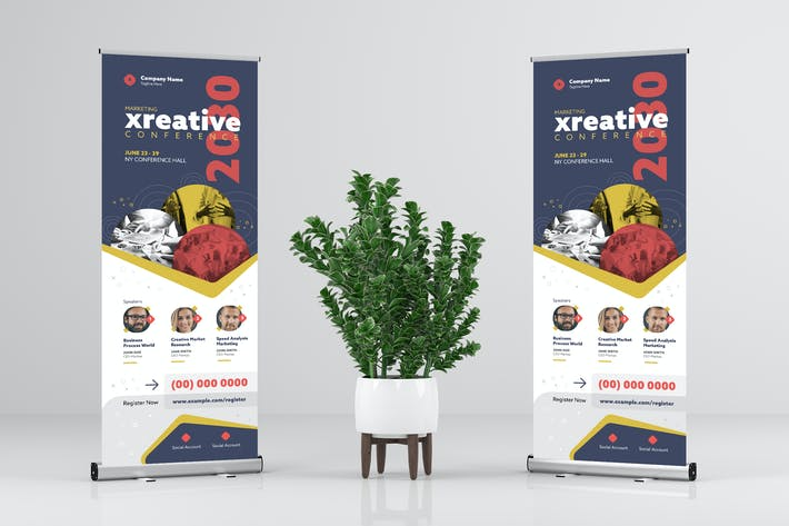 Thumbnail for Business / Creative / Event Rollup Banner Design