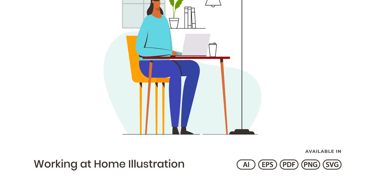 Download Working At Home Illustration by visuelcolonie