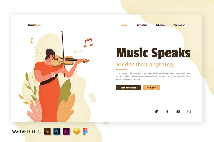 Music Matters - Flat Illustration
