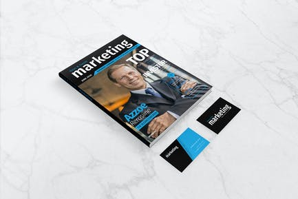Mockup - A4 Magazine and Business Card