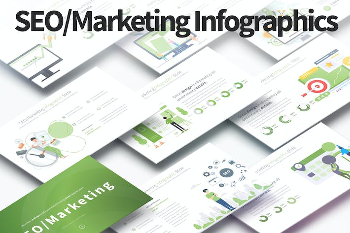 Thumbnail for SEO/Marketing - PowerPoint Infographics Slides