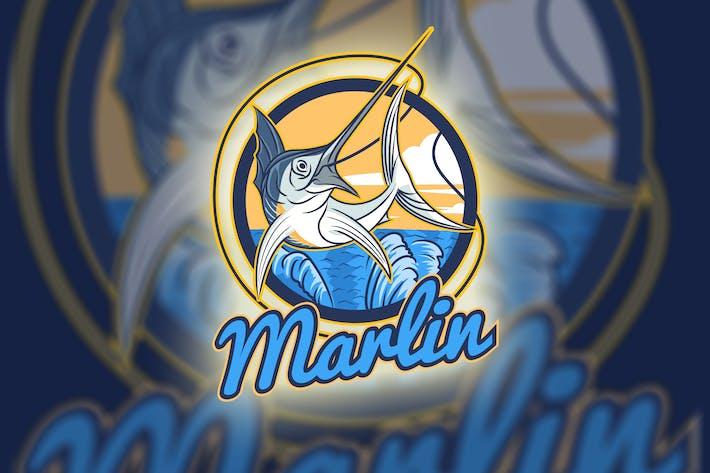 Thumbnail for Marlin Fish Mascot - Fishing Hobby Logo