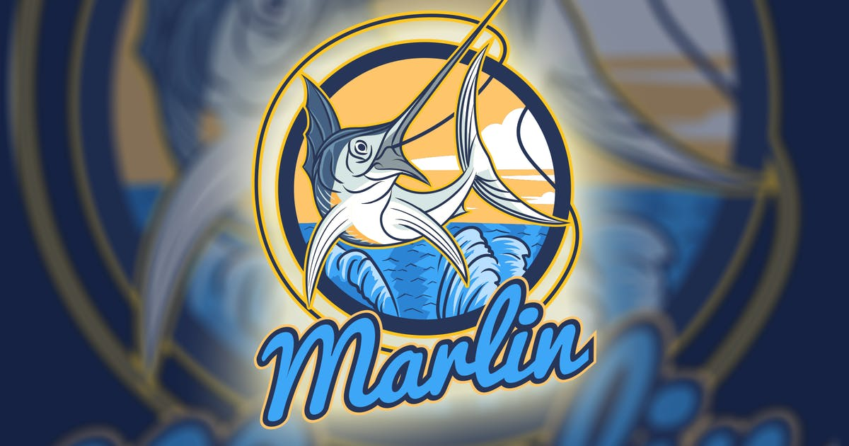 Download Marlin Fish Mascot - Fishing Hobby Logo by Suhandi