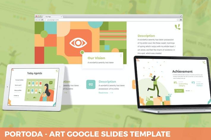 Thumbnail for Portoda - Art Google Slides Template