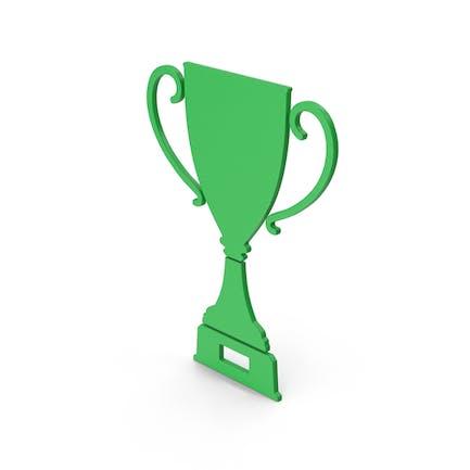 Symbol Trophy Cup Green