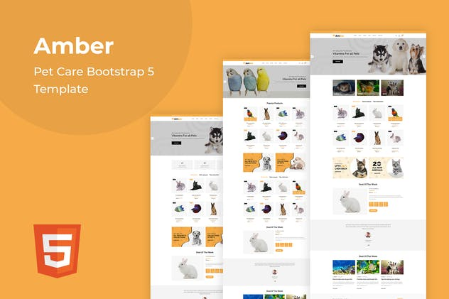 Amber - Pet Care Bootstrap 5 Template