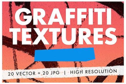 20 Graffiti Textures - Vector & JPG