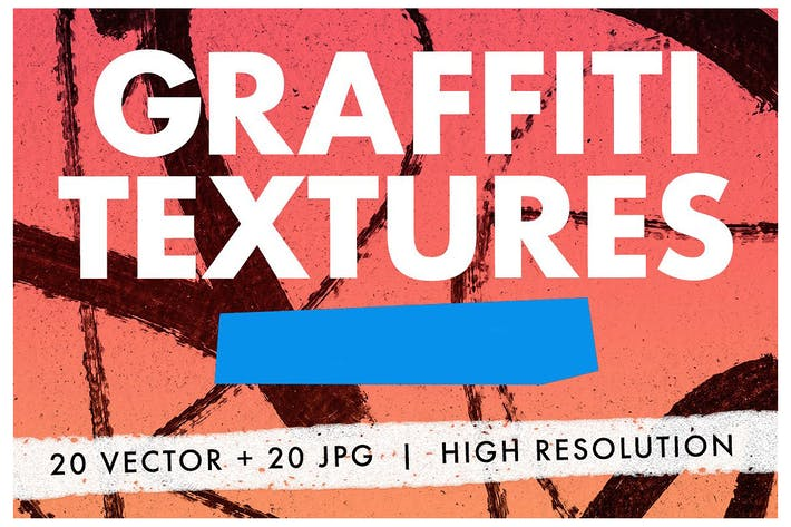 Thumbnail for 20 Graffiti-Texturen - Vektor & JPG