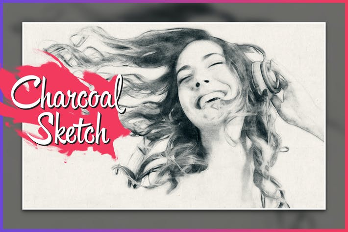 Thumbnail for Charcoal Sketch CS3+ Photoshop Action