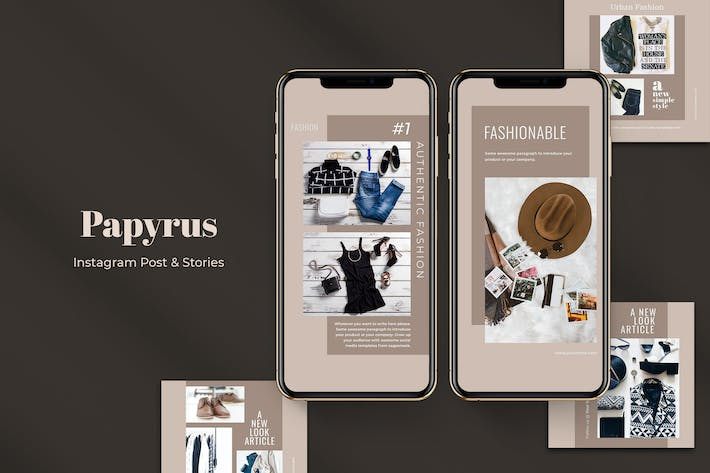 Thumbnail for Papyrus Instagram Post & Stories
